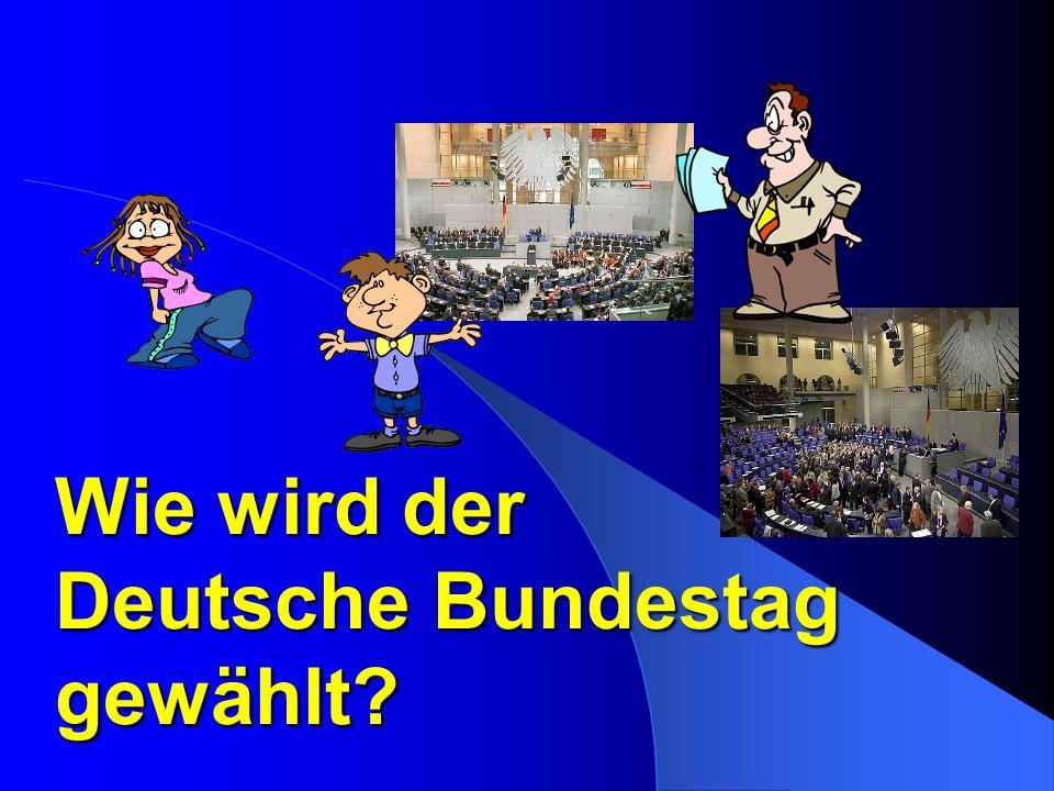 Wie wird der Deutsche Bundestag gewählt