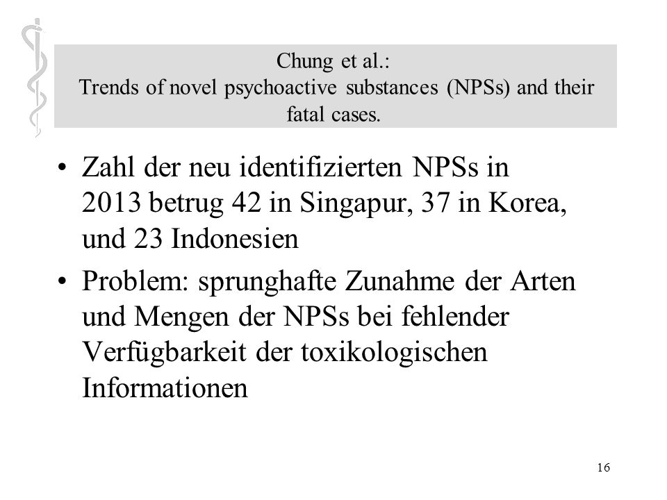 Chung et al.: Trends of novel psychoactive substances (NPSs) and their fatal cases.