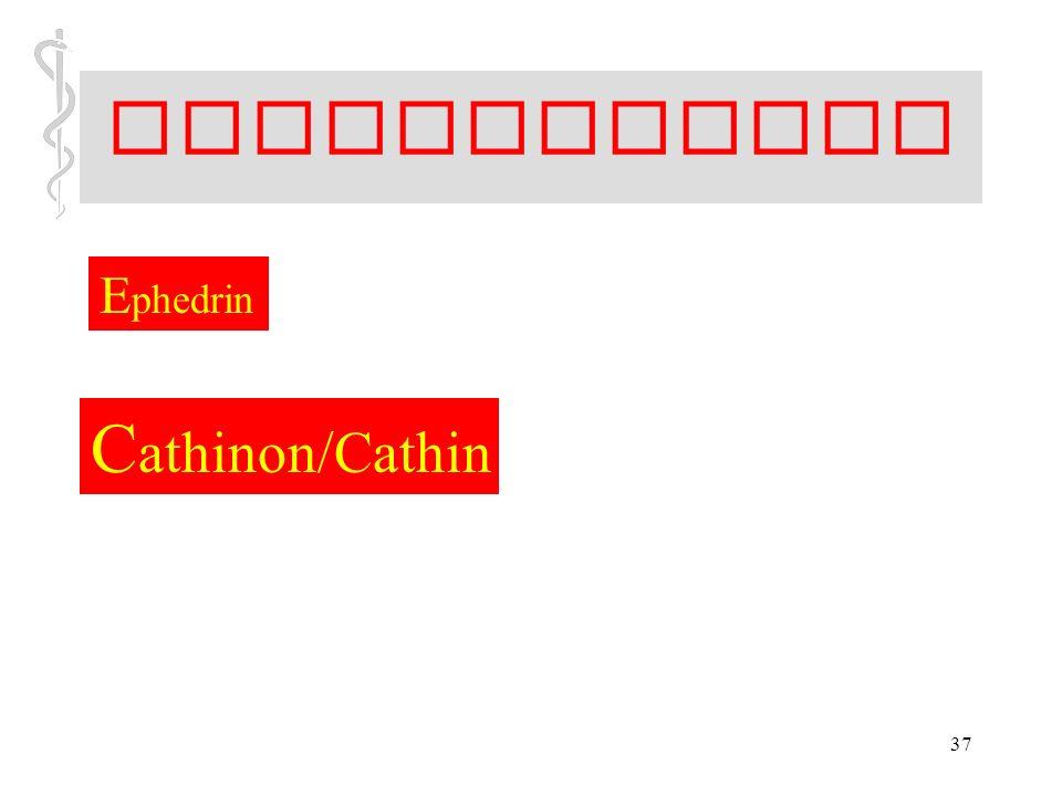 Stimulanzien Ephedrin Cathinon/Cathin