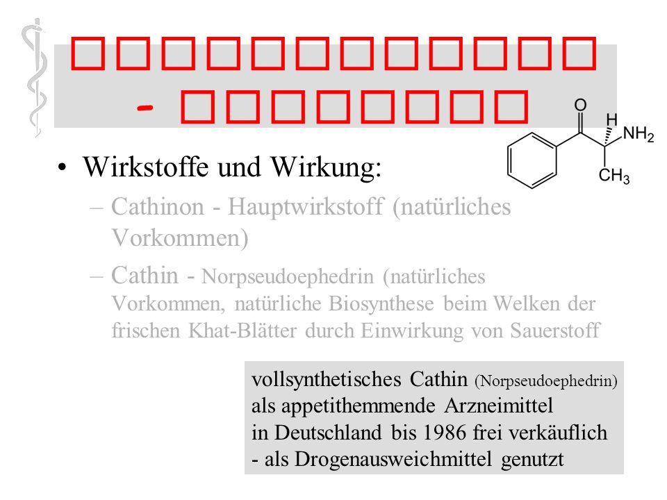 Stimulanzien - Cathinon