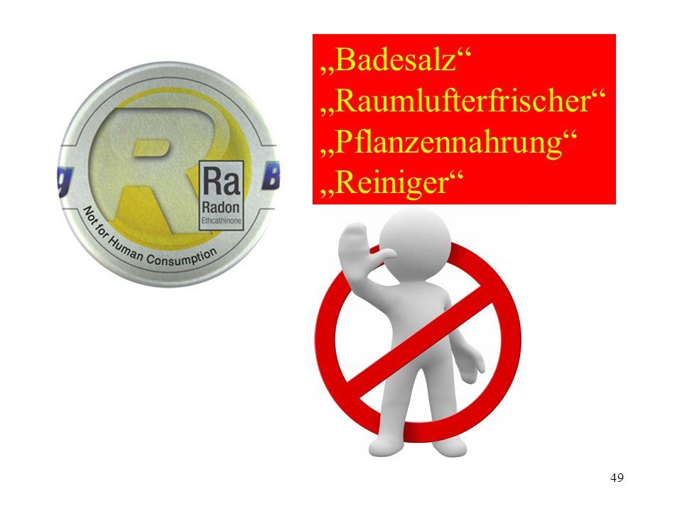 """""""Badesalz """"Raumlufterfrischer """"Pflanzennahrung """"Reiniger"""