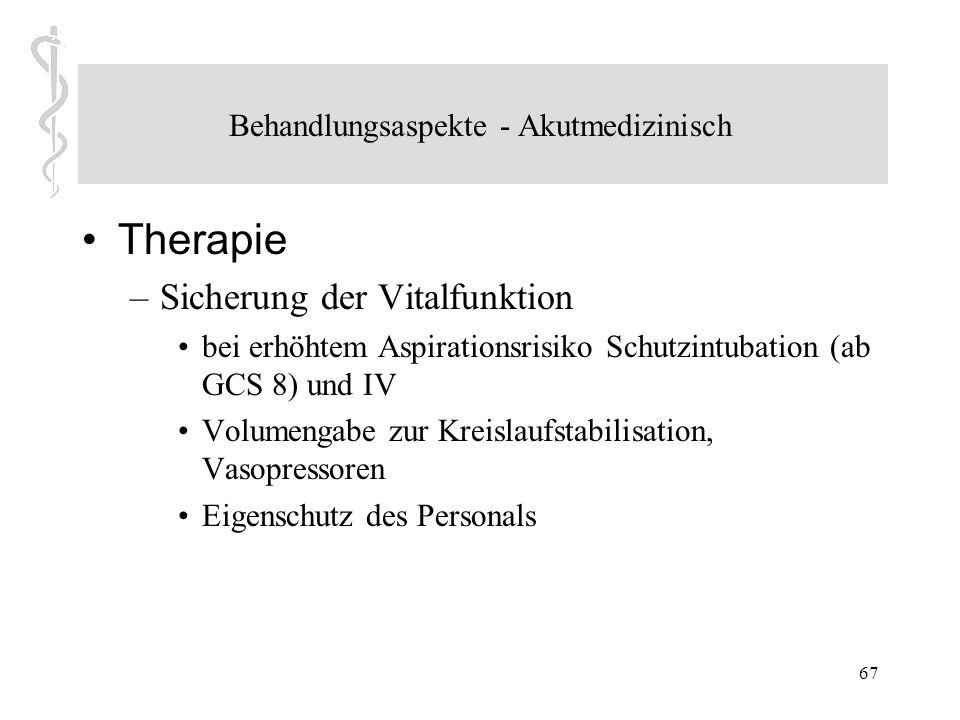 Behandlungsaspekte - Akutmedizinisch