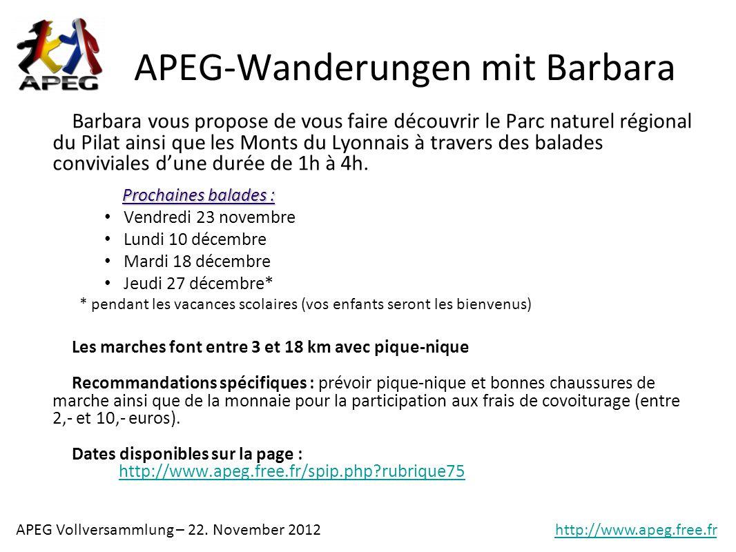 APEG-Wanderungen mit Barbara