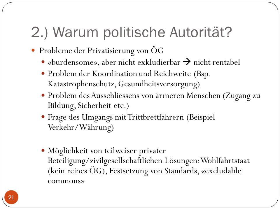 2.) Warum politische Autorität