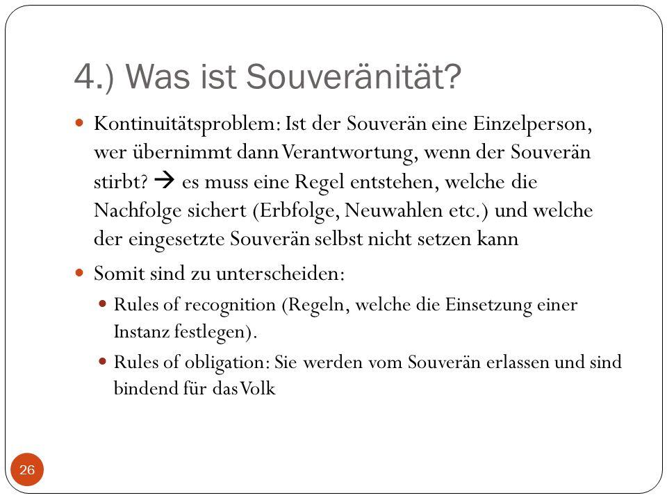4.) Was ist Souveränität