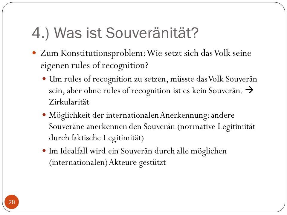 4.) Was ist Souveränität Zum Konstitutionsproblem: Wie setzt sich das Volk seine eigenen rules of recognition
