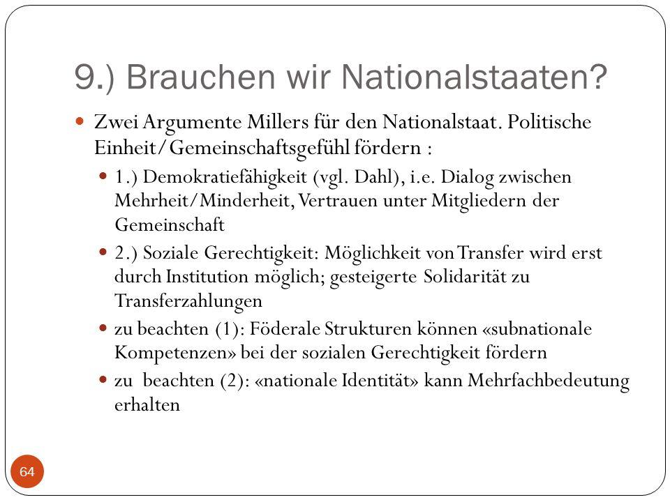9.) Brauchen wir Nationalstaaten