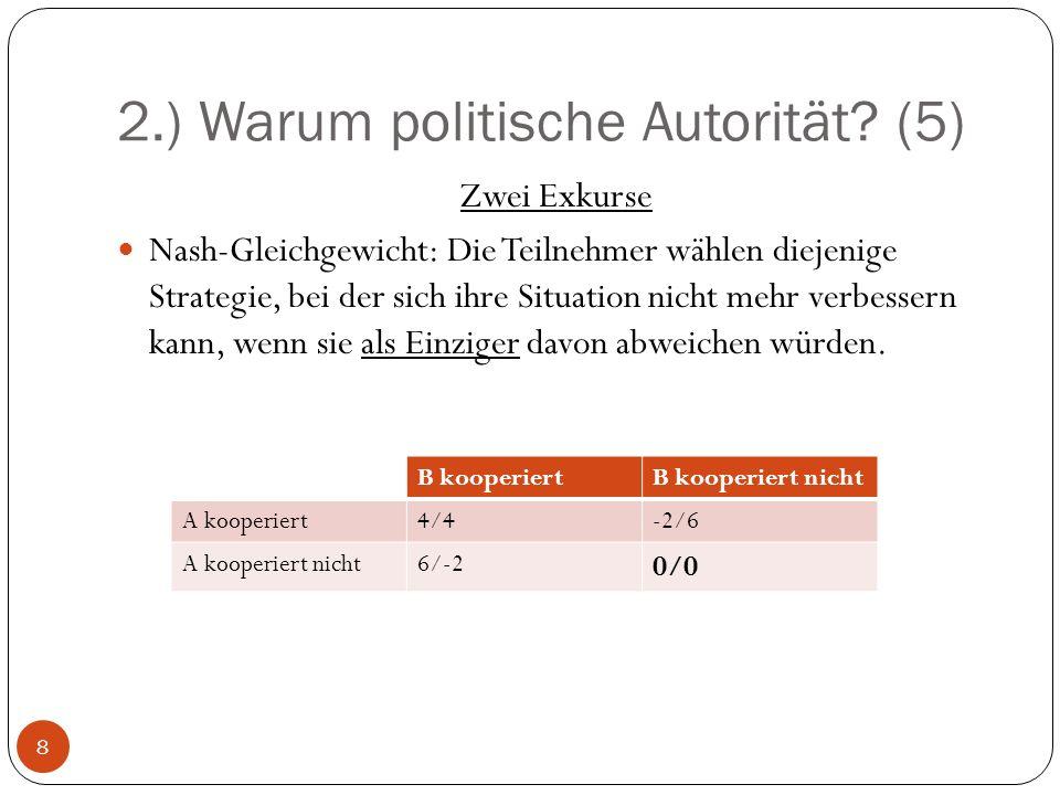 2.) Warum politische Autorität (5)