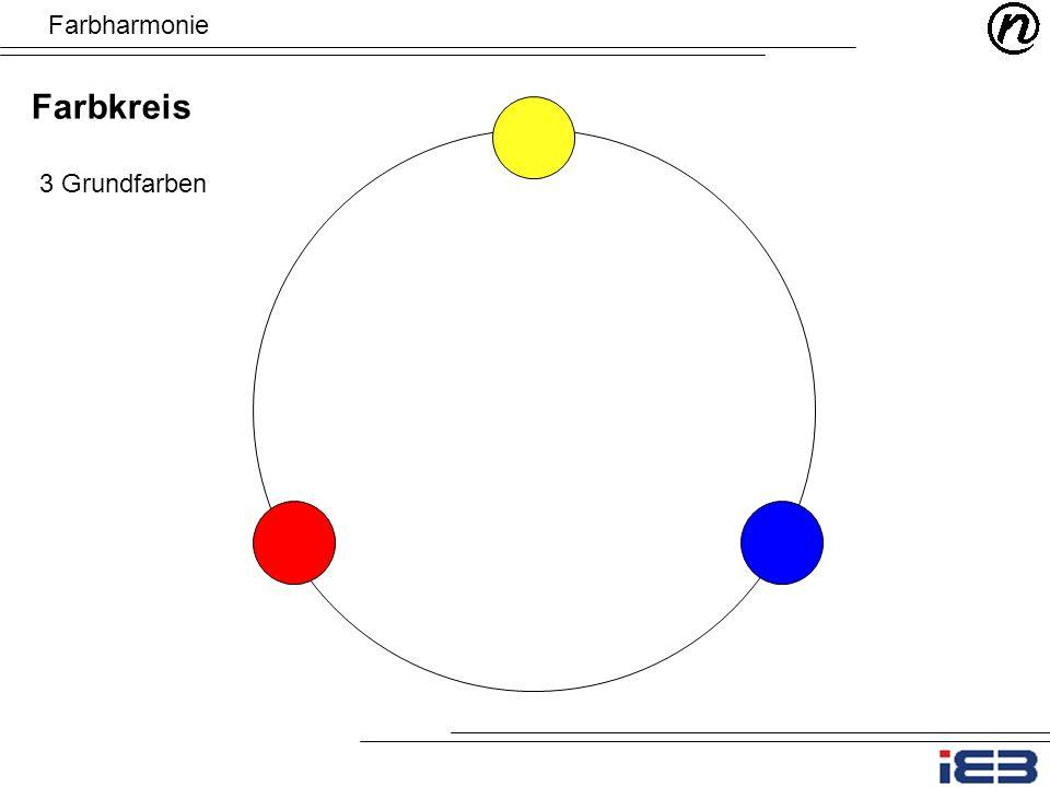 Farbharmonie Farbkreis 3 Grundfarben