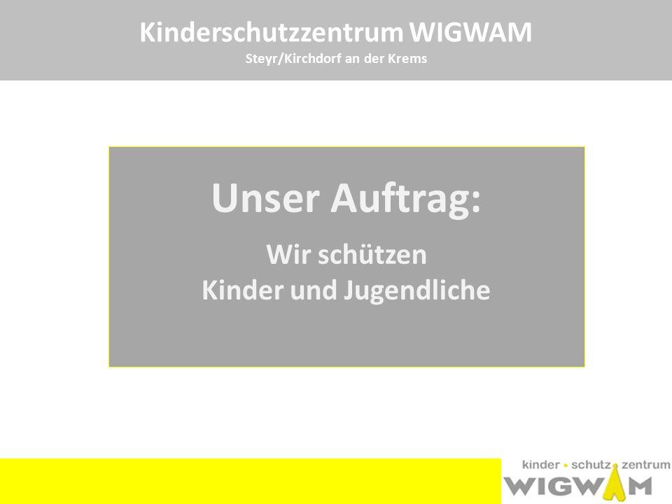 Unser Auftrag: Kinderschutzzentrum WIGWAM Wir schützen