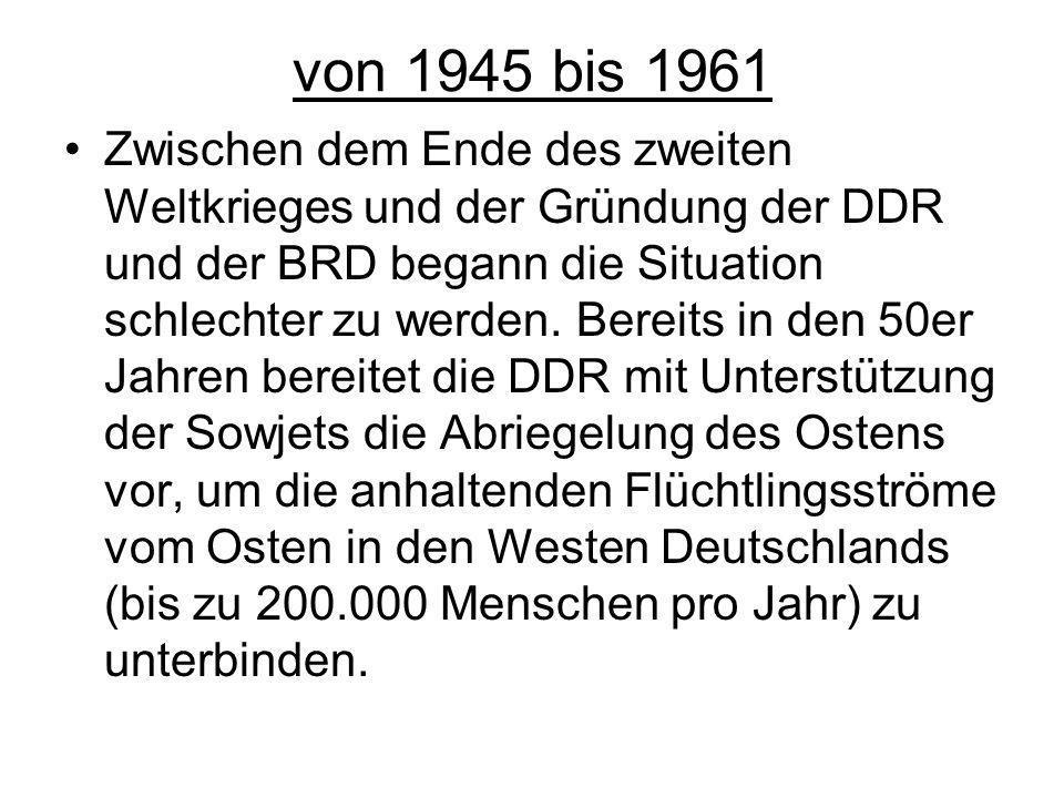 von 1945 bis 1961