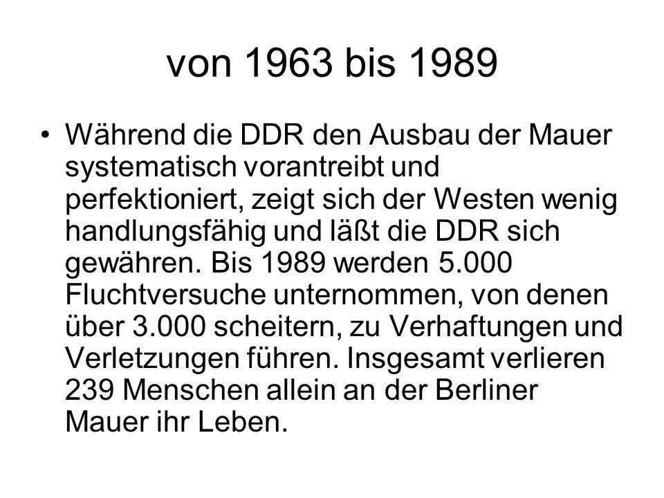 von 1963 bis 1989