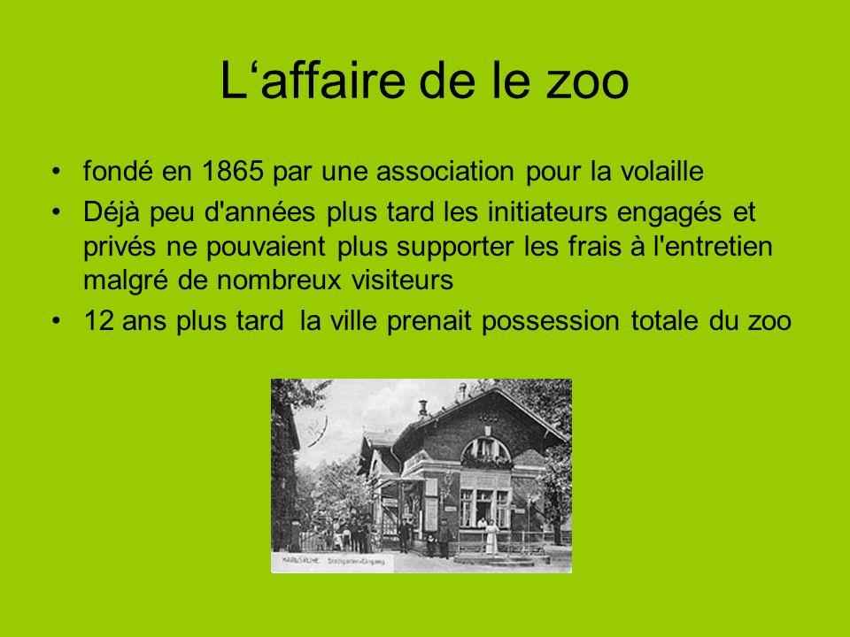 L'affaire de le zoo fondé en 1865 par une association pour la volaille