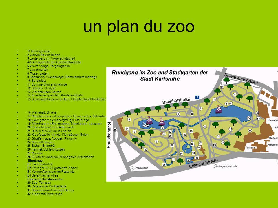 un plan du zoo 1Flamingowiese 2 Garten Baden-Baden