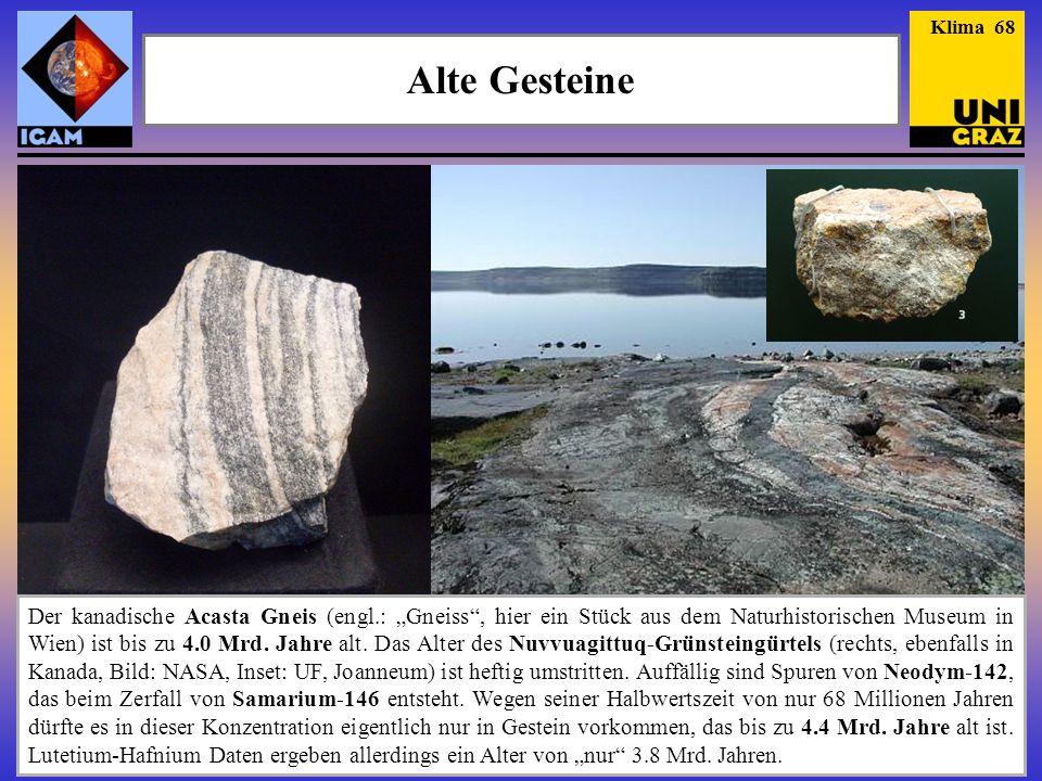 Klima 68 Alte Gesteine.