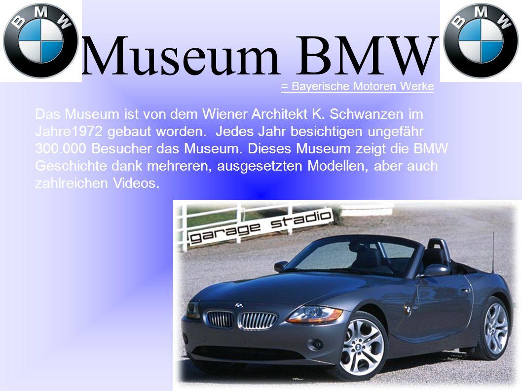 Museum BMW = Bayerische Motoren Werke.