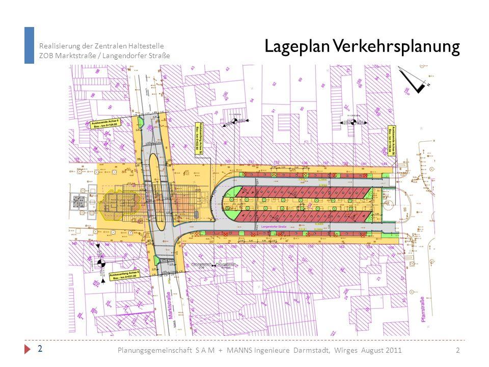 Lageplan Verkehrsplanung