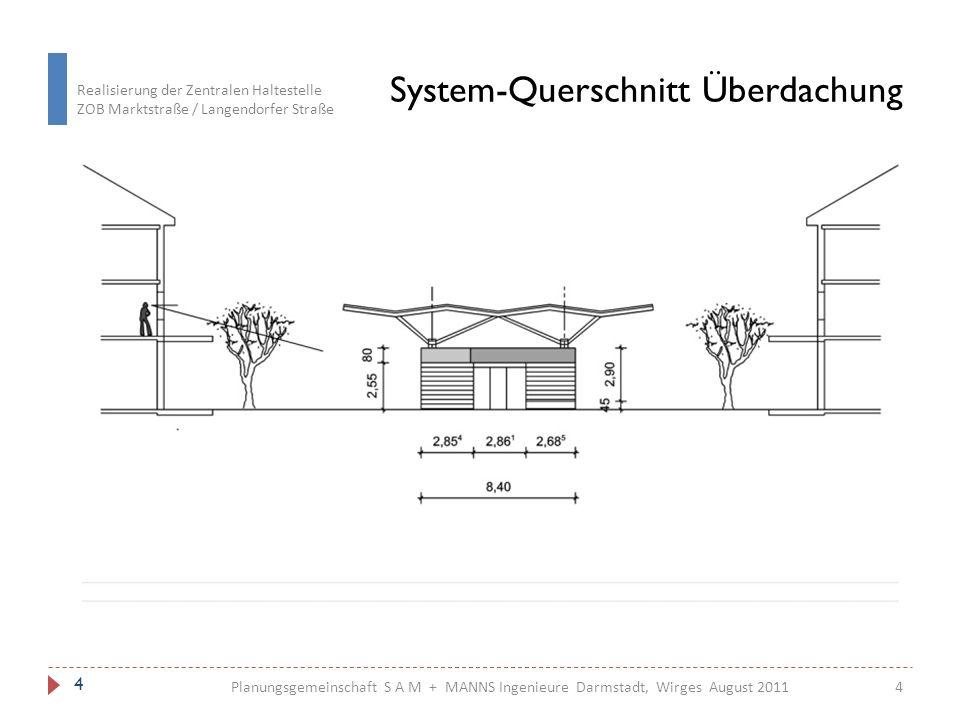 System-Querschnitt Überdachung