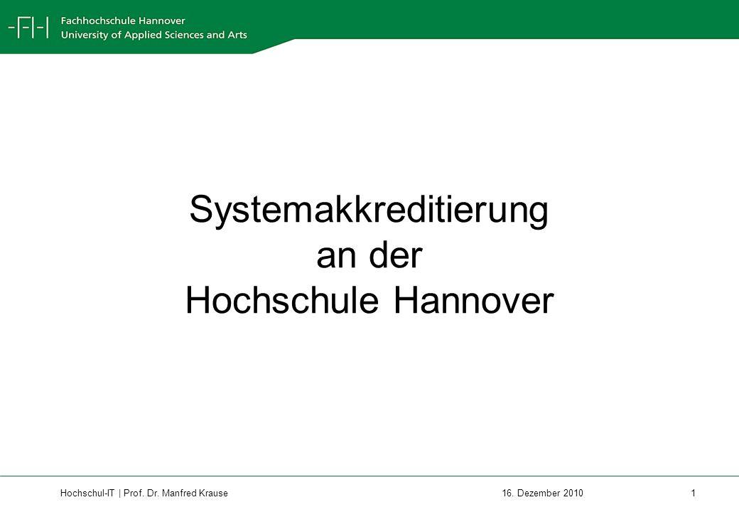 Systemakkreditierung an der Hochschule Hannover