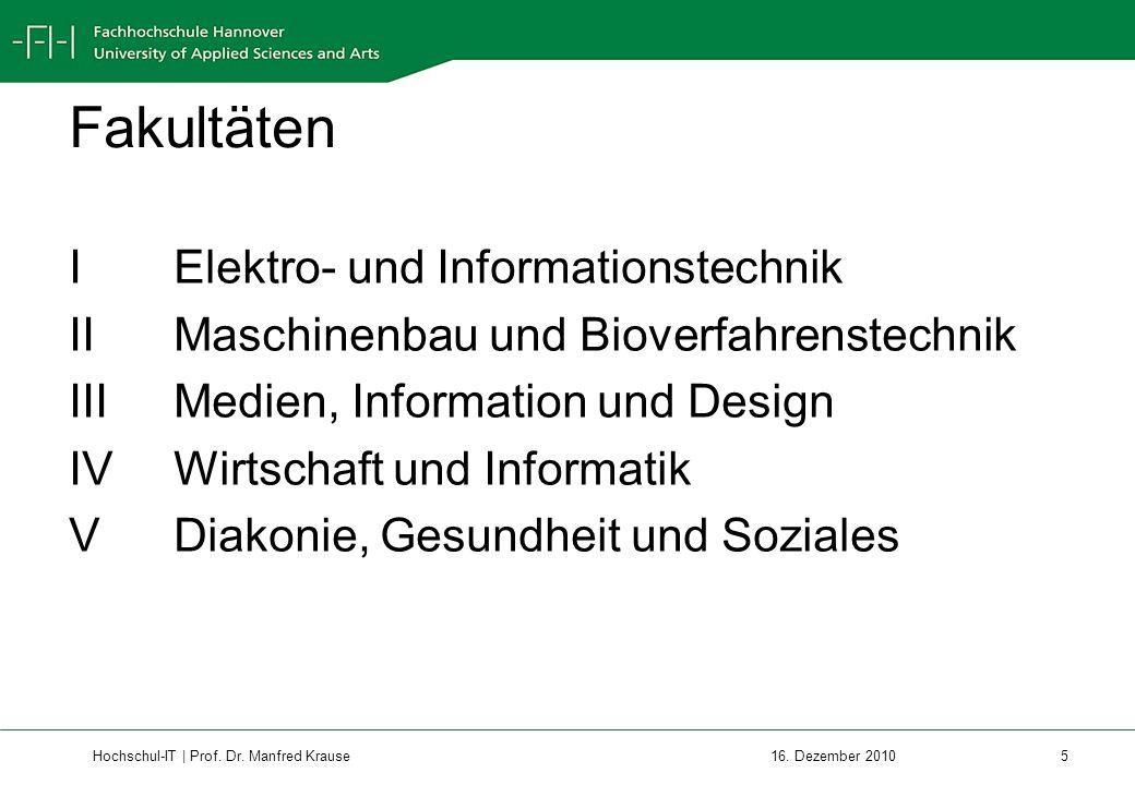 Fakultäten I Elektro- und Informationstechnik