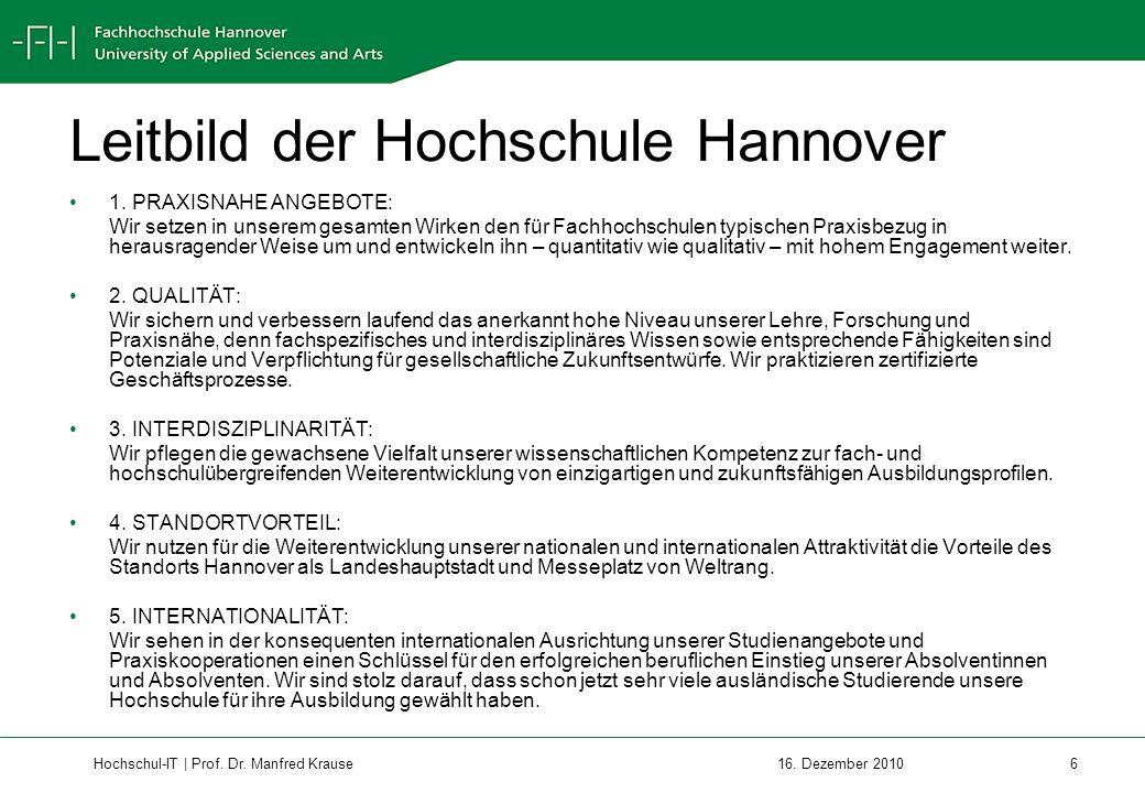 Leitbild der Hochschule Hannover