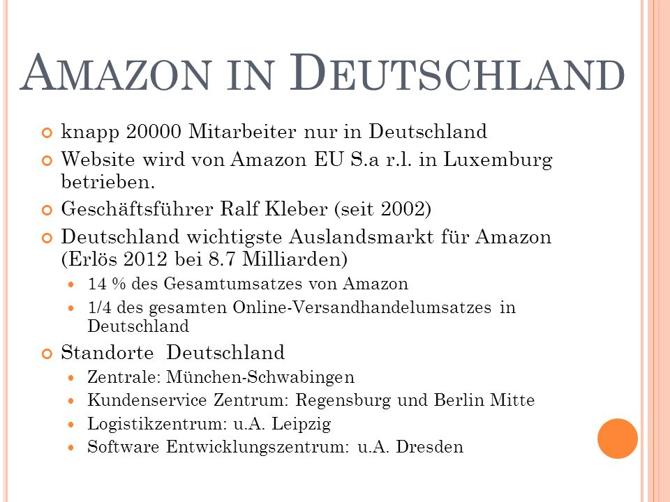 Amazon in Deutschland knapp 20000 Mitarbeiter nur in Deutschland