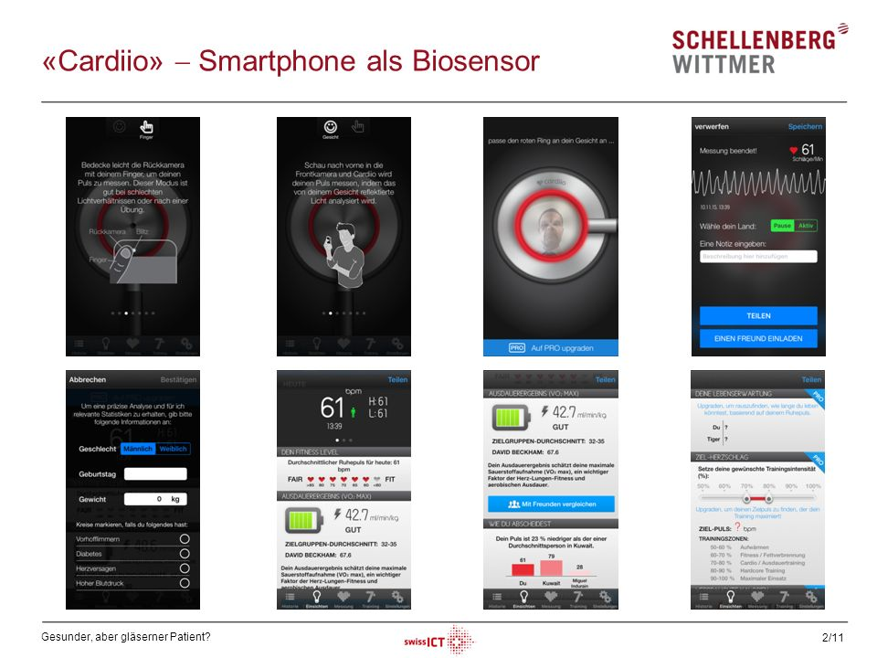 «Cardiio»  Smartphone als Biosensor