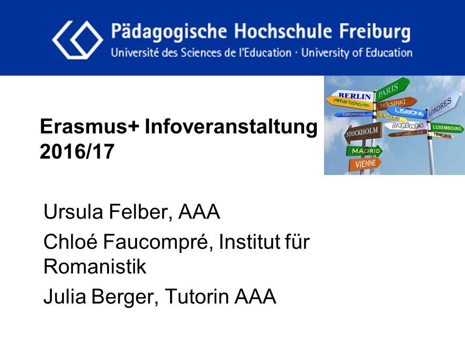 Erasmus+ Infoveranstaltung 2016/17