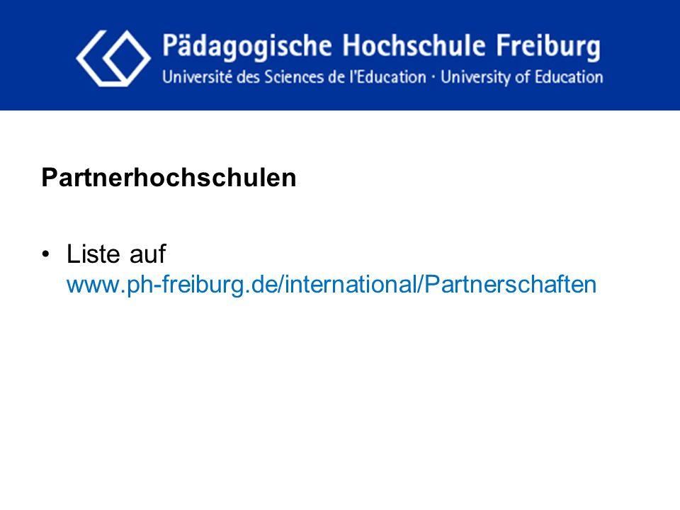 fdgfg Partnerhochschulen