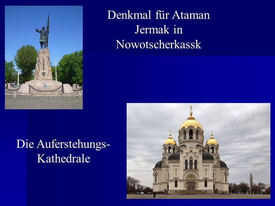 Denkmal für Ataman Jermak in Nowotscherkassk