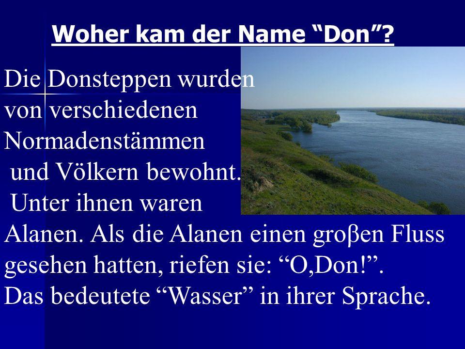 Woher kam der Name Don