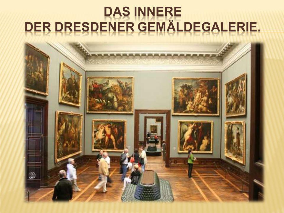 Das innere der dresdener gemäldegalerie.