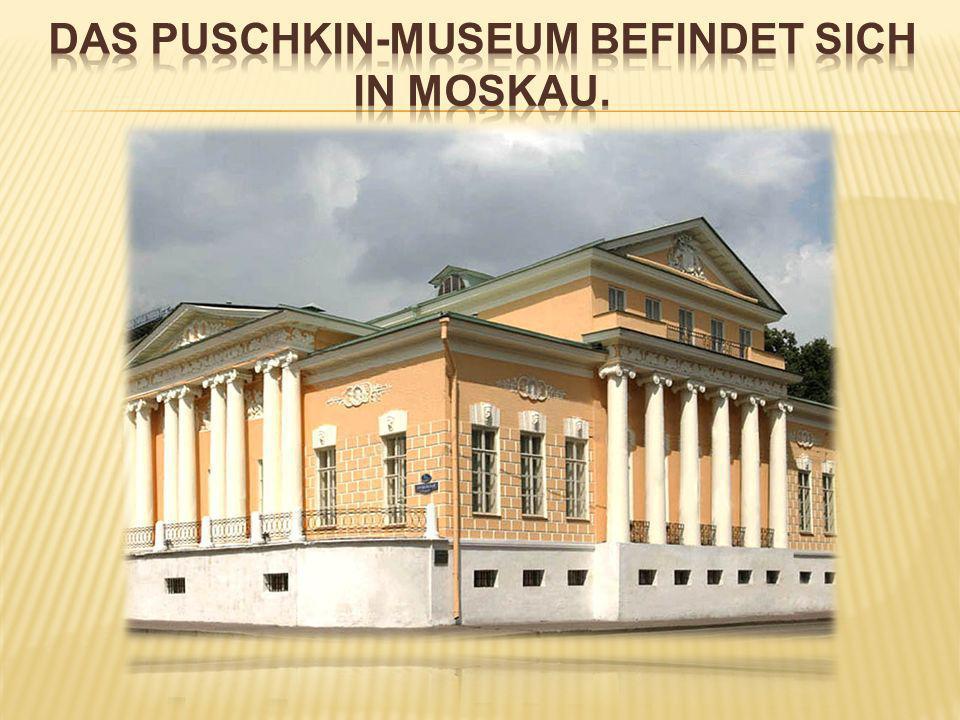 das Puschkin-museum befindet sich in Moskau.