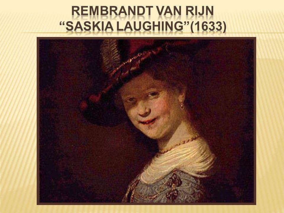 Rembrandt van rijn Saskia laughing (1633)