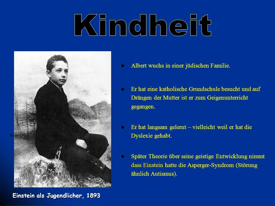 Kindheit Albert wuchs in einer jüdischen Familie.