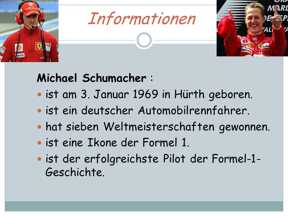 Informationen Michael Schumacher :