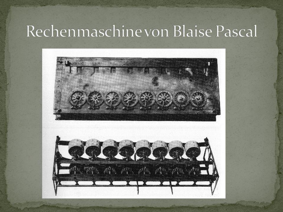 Rechenmaschine von Blaise Pascal