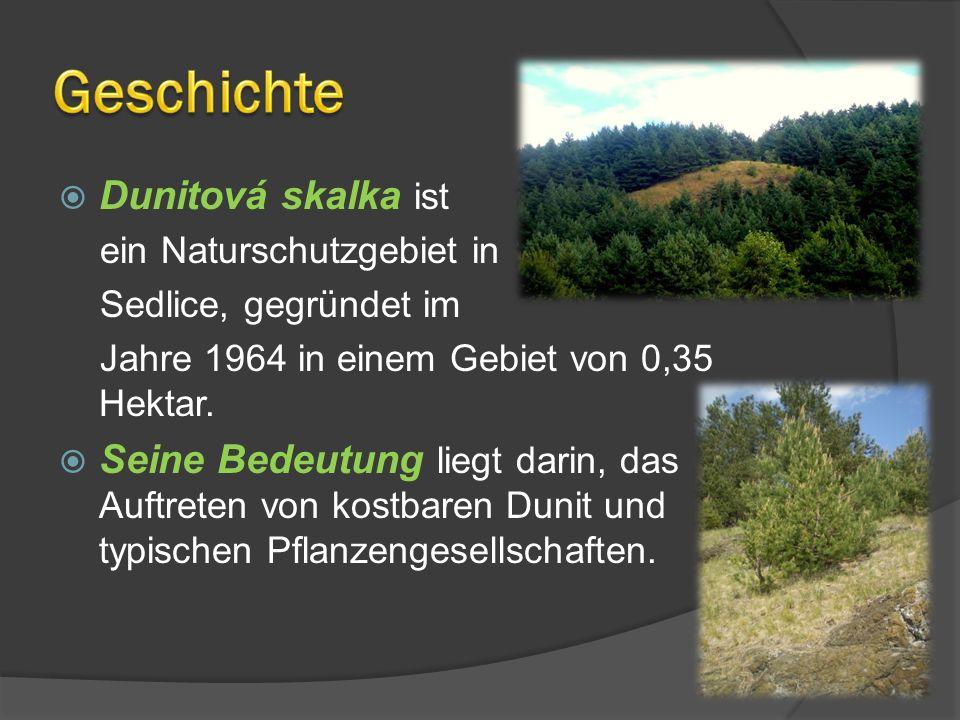 Geschichte Dunitová skalka ist