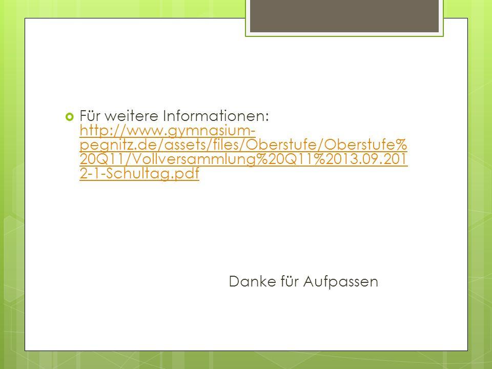 Für weitere Informationen: http://www. gymnasium-pegnitz