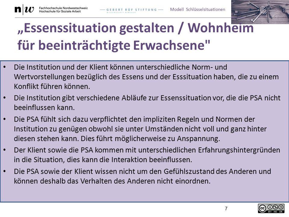 """""""Essenssituation gestalten / Wohnheim für beeinträchtigte Erwachsene"""