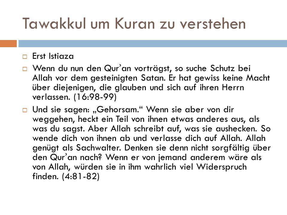 Tawakkul um Kuran zu verstehen