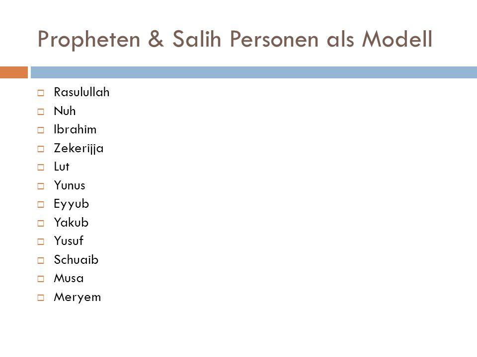 Propheten & Salih Personen als Modell