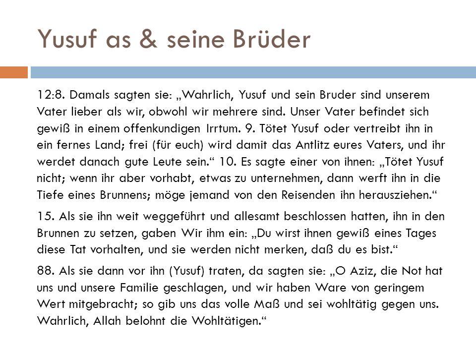 Yusuf as & seine Brüder