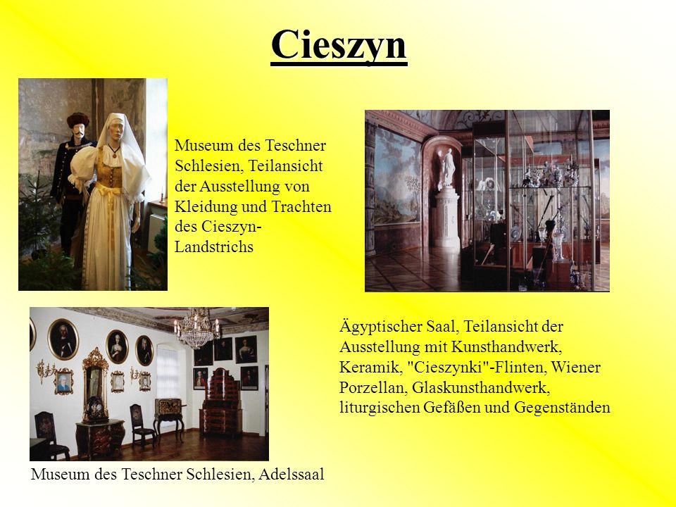 Cieszyn Museum des Teschner Schlesien, Teilansicht der Ausstellung von Kleidung und Trachten des Cieszyn-Landstrichs.