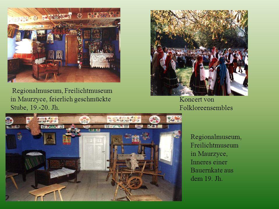 Regionalmuseum, Freilichtmuseum in Maurzyce, feierlich geschmückte Stube, 19.-20. Jh.