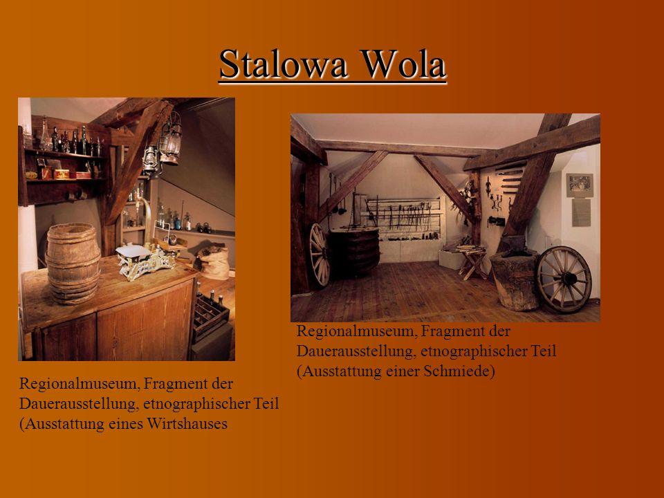Stalowa Wola Regionalmuseum, Fragment der Dauerausstellung, etnographischer Teil (Ausstattung einer Schmiede)