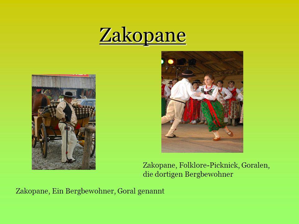 Zakopane Zakopane, Folklore-Picknick, Goralen, die dortigen Bergbewohner.