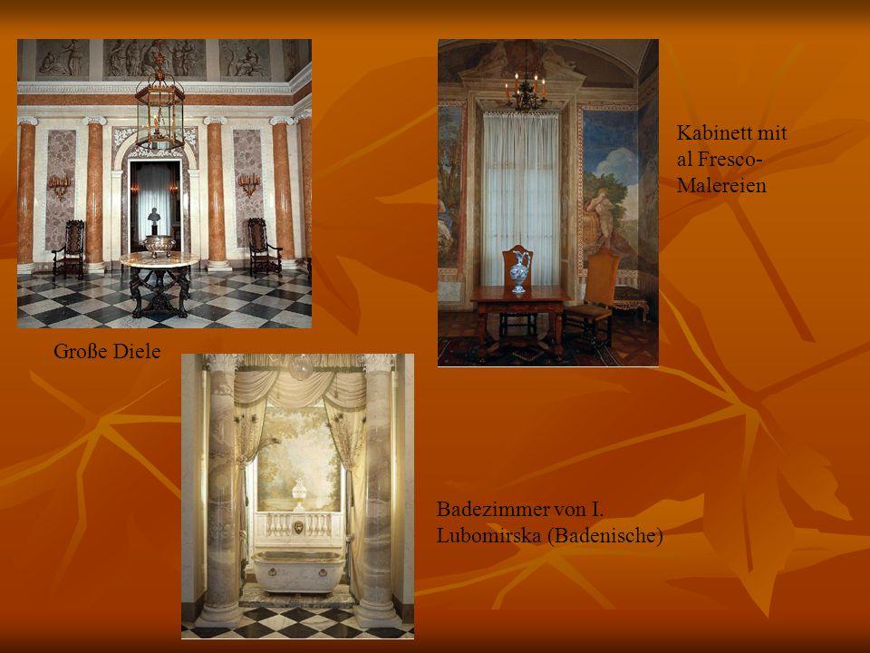 Kabinett mit al Fresco-Malereien