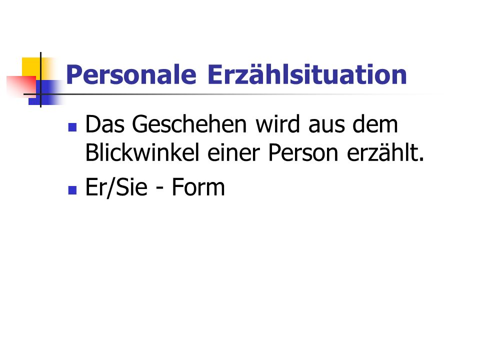 Personale Erzählsituation