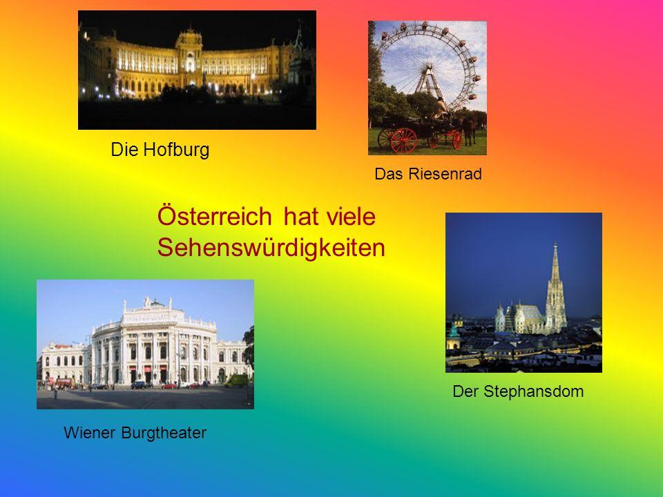 Österreich hat viele Sehenswürdigkeiten Die Hofburg Das Riesenrad